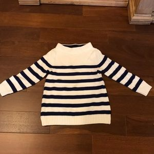 Striped cotton knit sweater